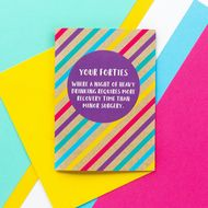 Bettie Confetti 'Your Forties - Heavy Drinking' Card